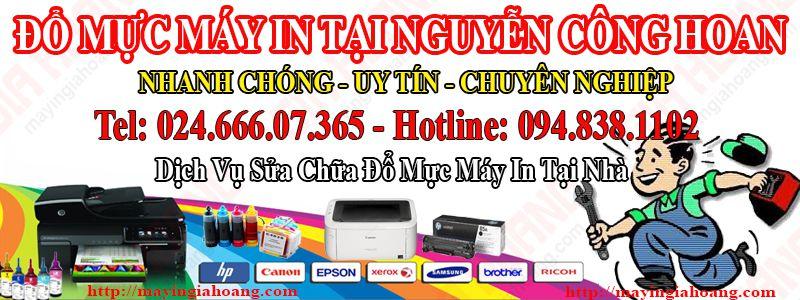 Đổ mực máy in tại nhà Nguyễn Công Hoan